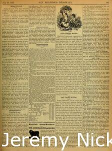 1883-07-20 Crabb is listed as one of several references for J. L. Heald's Agricultural Works