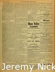 1883-08-10 Announcement for the upcoming Second Annual State Viticultural Convention