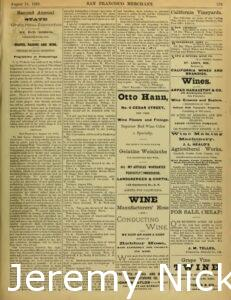 1883-08-24 Announcement for the upcoming Second Annual State Viticultural Convention