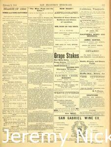 1884-02-08 Advertisement by Charles A. Wetmore