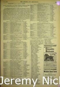 1895-07-13 Crabb's Topsy and Alco mentioned in the program for the Pacific Coast Trotting Horses Breeders Association