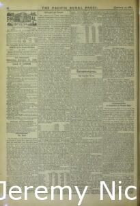 1880-01-17 Summary of business announcements in the Pacific Rural Press