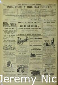 1880-01-17 Advertisement for grape cuttings sold by Crabb