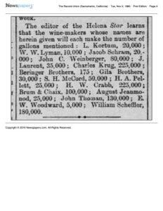 1880-11-02 Crabb's wine yield is estimated at 225,000 gallons