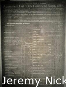 Assessment List of the County of Napa, 1887 - 1
