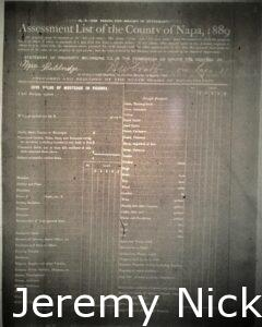Assessment List of the County of Napa, 1889 - 5