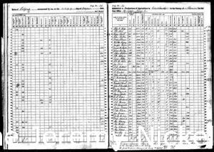 1860 US Agriculture Census for H.W. Crabb