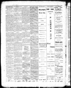Newspaper article discussing H.W. Crabb informing a reporter that he had just finished up grafting a variety of exotic grapes from all over the world - 2
