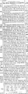 Newspaper article discussing how H.W. Crabb slowly grew in to the wine business and now produces one hundred thousand gallons